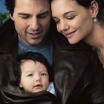 Том Круз с семьей
